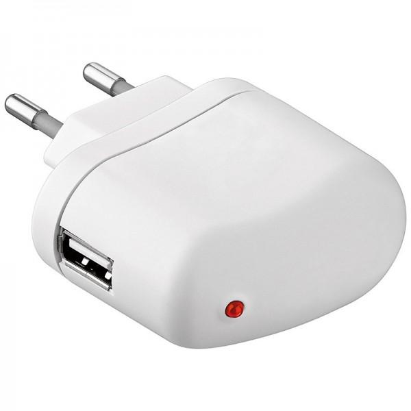 USB Single Netzteil / Lade-Adapter 230V -> 1x 5V USB 2000mA 2A