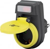 Schutzkontakt-Zwischenstecker mit Schalter, spritzwassergeschützt