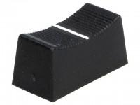 Faderknopf für 4mm Schiebepotentiometer, 23x11x11mm, schwarz