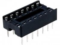 IC-Sockel, 14-polig, RM:2,54mm, THT