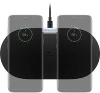 Kabelloses Qi Dual-Schnellladegerät, 10W, schwarz