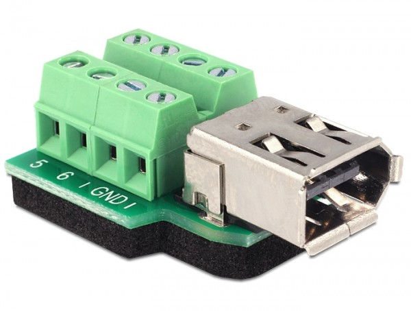 Adapter FireWire A 6 Pin Buchse - Terminalblock 8 Pin