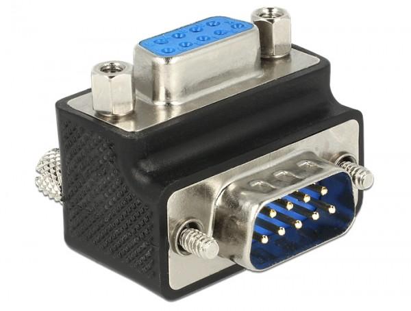 D-Sub 9-Pin 270° Winkeladapter Stecker-Buchse Schraube/Mutter tauschbar