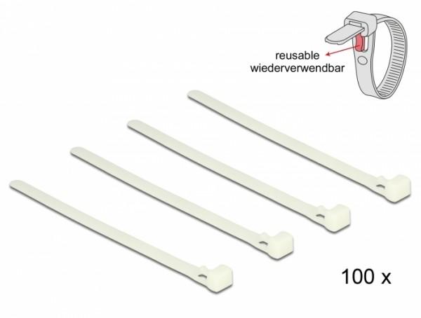 Kabelbinder lösbar weiß L 150 x B 7,2 mm 100 Stück
