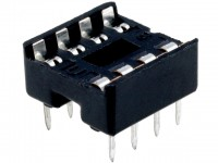 IC-Sockel, 8-polig, RM:2,54mm, THT