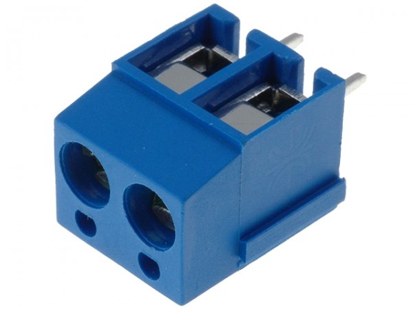 Anschlussklemme, schraubbar, 90° gewinkelt, 2,50mm², RM 5,08mm, 2-polig