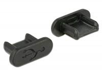 Staubschutz für USB 2.0 Micro-B Buchse ohne Griff 10 Stück schwarz