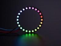 NeoPixel Ring - 24 x 5050 RGBW LEDs mit integrierten Treibern, Warmweiß