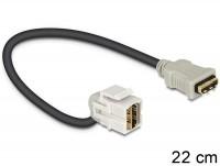 Keystone HDMI Buchse > HDMI Buchse 110° mit Kabel