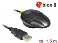 Navilock NL-82002U USB 2.0 Multi GNSS UDR Empfänger u-blox NEO-M8U 1,5 m