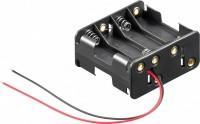 Batteriehalter für 8x Mignon AA 4/4 mit 150mm Anschlusskabel