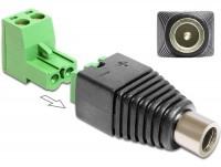 Adapter DC 2,1 x 5,5 mm Buchse - Terminalblock 2 Pin 2-teilig
