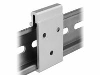 Aluminium Montageclip für Hutschiene, B 27mm
