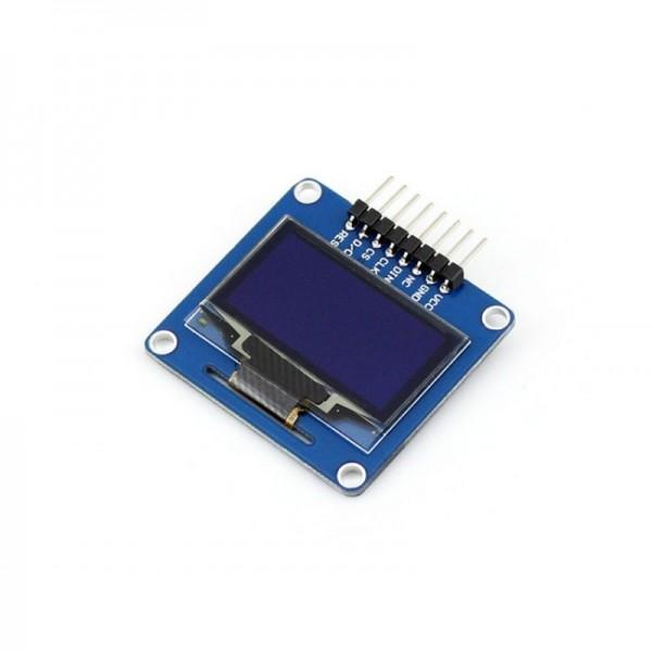 "1.3"" 128x64 OLED Display Modul, einfarbig (blau), SPI/I2C Interface, horizontale Stiftleiste"