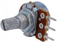 Drehpotentiometer, 100kΩ, liegend, mono, 6mm, Printmontage
