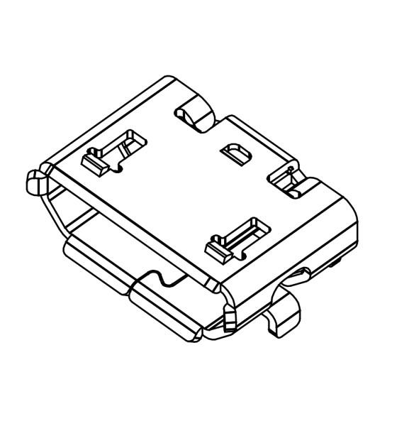 Micro USB Typ B Buchse, SMD, THT Montage