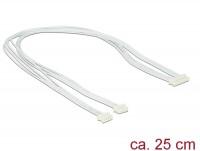 Kabel USB 2.0 Pfostenbuchse 1,25 mm 8 Pin - 2 x USB 2.0 Pfostenbuchse 1,25 mm 4 Pin 25 cm
