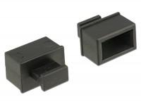 Staubschutz für SFP Schacht mit Griff 10 Stück schwarz