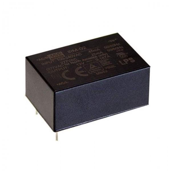 MeanWell Mini Schaltnetzteil, Printmontage, 12V / 167mA