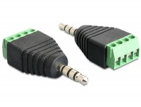 Adapter Terminalblock - Klinkenstecker 3,5mm 4 Pin