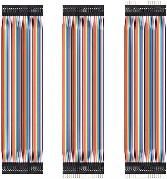 40pin Jumper / Dupont Kabel Set, je 1x F-F / M-M / F-M, 20cm