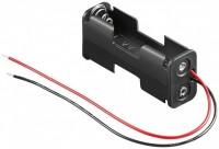 Batteriehalter für 2x Mignon AA 1/1 mit 150mm Anschlusskabel
