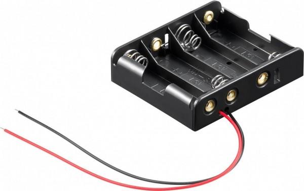 Batteriehalter für 4x Mignon AA mit 150mm Anschlusskabel
