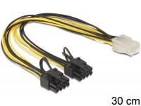 Kabel PCI Express Stromversorgung 6 Pin Buchse > 2 x 8 Pin Stecker 30cm