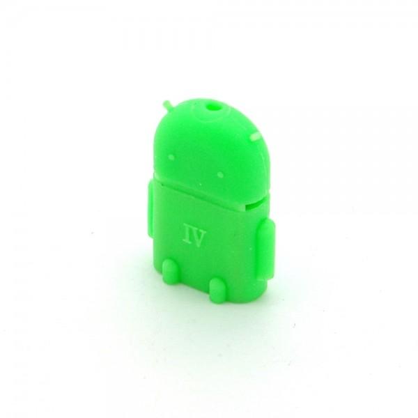 USB 2.0 Hi-Speed OTG Adapter Robot A-Buchse > Micro B-Stecker grün