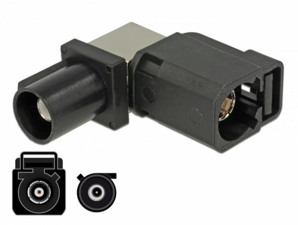 Adapter FAKRA A Buchse 90° - FAKRA A Stecker