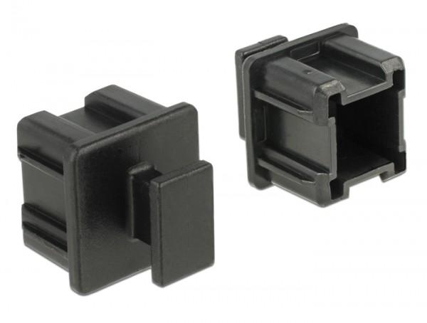 Staubschutz für Mini SAS HD SFF 8644 Buchse mit Griff 10 Stück schwarz
