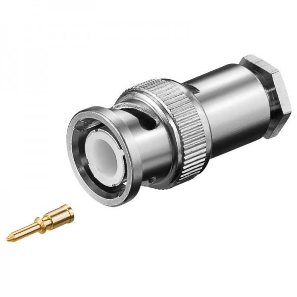 BNC-Stecker Lötversion für RG 58/U Kabel mit Goldpin