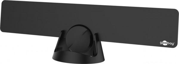 Aktive DVB-T2 Zimmerantenne, ultraflach, inkl. LTE/4G Filter, 30dB, schwarz