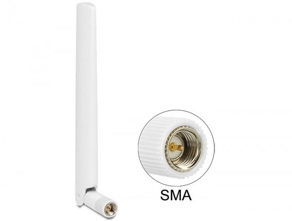 LTE Antenne SMA 1 ~ 2,5 dBi omnidirektional mit Kippgelenk weiß