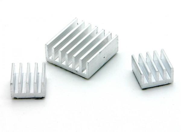 3 teiliges Kühlkörper Set für Raspberry Pi