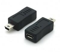 USB 2.0 Hi-Speed Adapter Micro B Buchse - Mini B Stecker schwarz