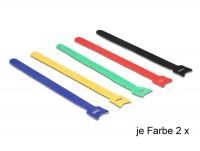 Kabelbinder, Klettverschluss, 240 x 12mm, farbig sortiert, 10 Stück