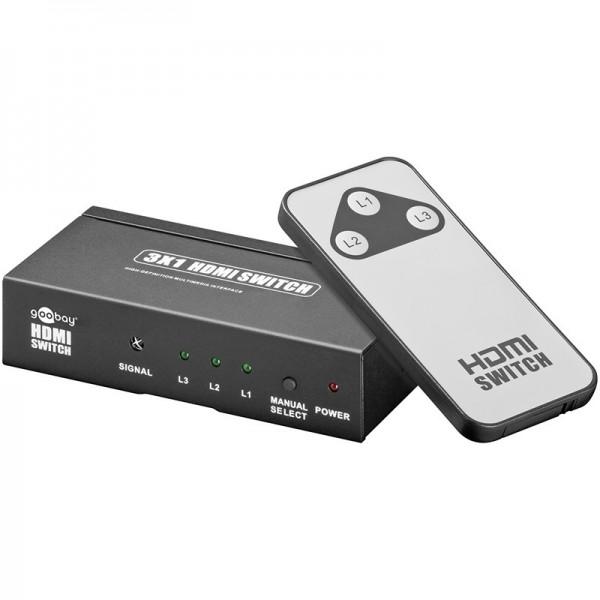 HDMI Umschaltbox mit Fernbedienung 3x1