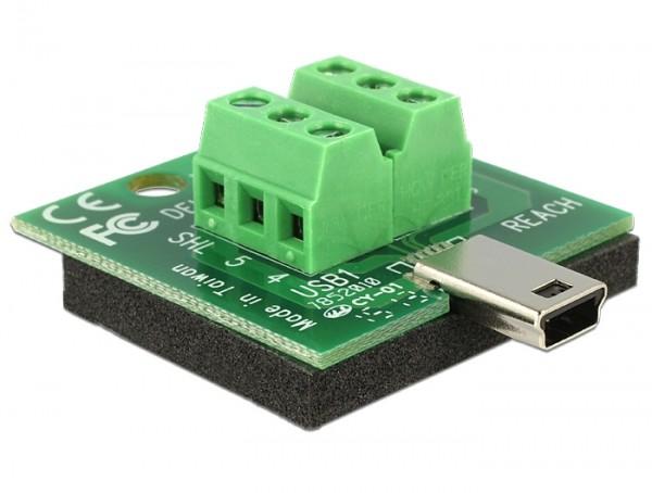 Adapter Terminalblock - Mini USB B Stecker