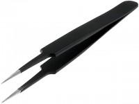 ESD Pinzette, 110mm, rostfreier Stahl, Spitzenform: Gerade, spitz, 0,5mm