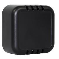 Raumsensorgehäuse 51x51x25,5mm, schwarz, belüftet