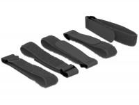 Kabelbinder, Klettverschluss L 300 mm x B 20 mm 5 Stück mit Schlaufe schwarz