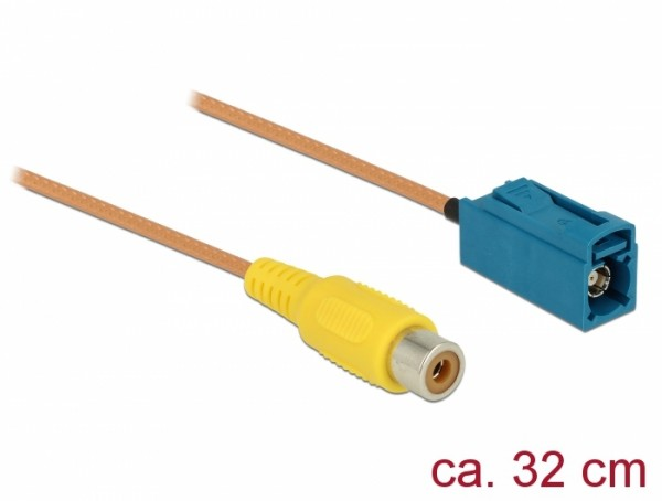 Kabel FAKRA Z Buchse - Cinch Buchse RG-179 32 cm