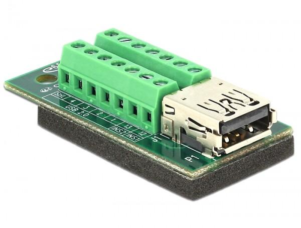 Adapter USB 3.0 / 3.1 PD A Buchse - Terminalblock 14 Pin
