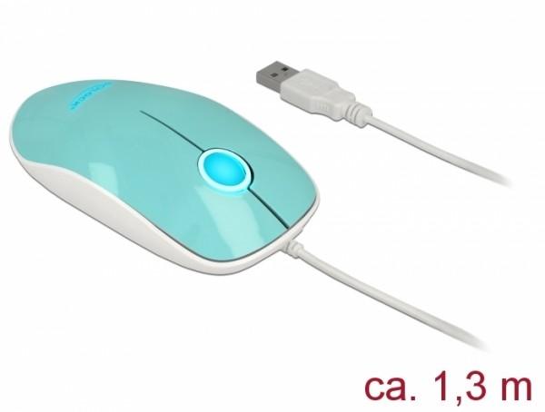 Optische 3-Tasten LED Maus USB Typ-A türkis