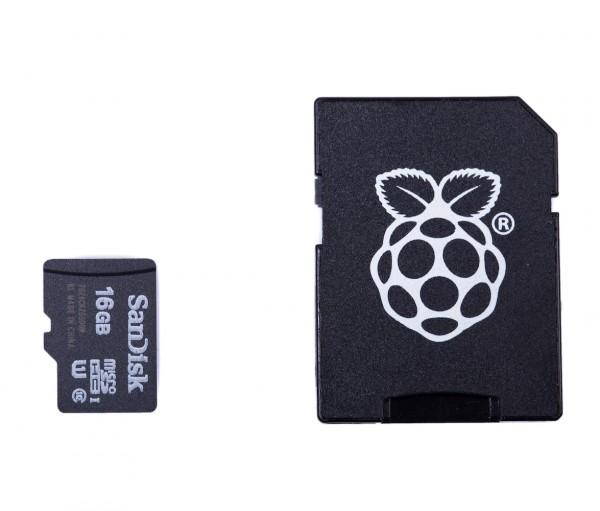 SanDisk 16GB microSDHC Class 10 Speicherkarte, NOOBS vorinstalliert, Jewel Case