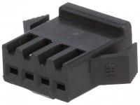 Steckverbinder Gehäuse kompatibel zu JST SMP-04V-BC, weiblich, 4 Pin, schwarz