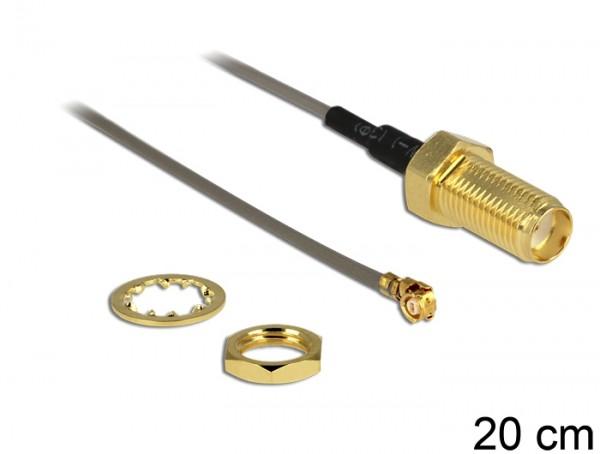 Antennenkabel SMA Buchse zum Einbau - MHF/U.FL-LP-088 kompatibler Stecker 200 mm 1.37