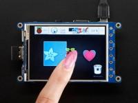 "Adafruit PiTFT Plus 320x240 3.2"" TFT, Resistiver Touchscreen"