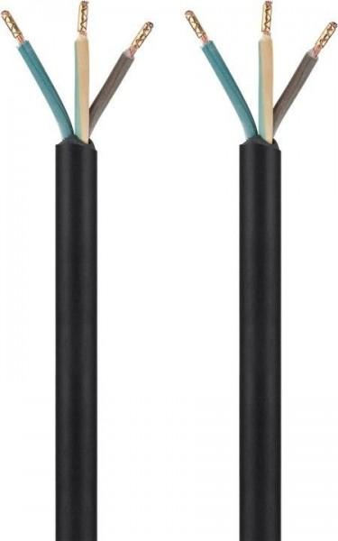 Schutzleiternetzkabel zum Konfektionieren mit Aderendhülsen, schwarz